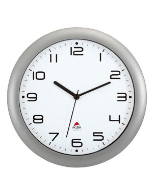 Orologio da parete hornew Ø30cm grigio metal alba HORNEW-M 3129710013937 HORNEW-M_74381