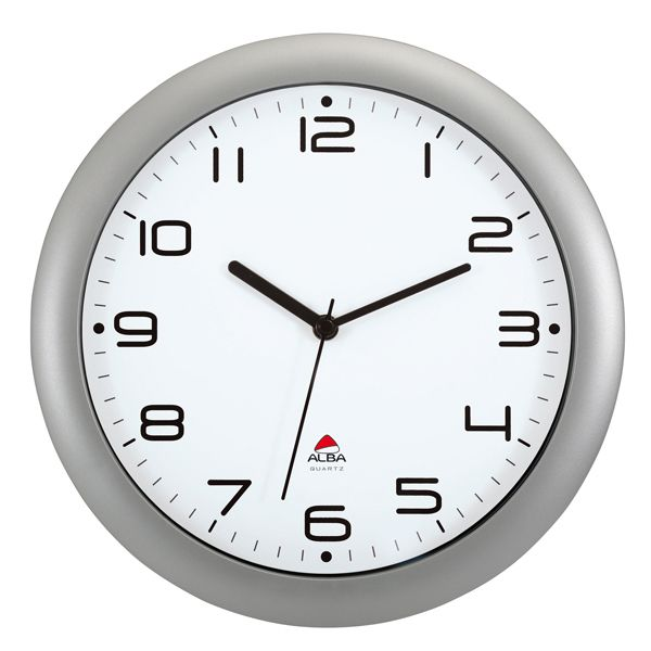 Orologio da parete hornew Ø30cm grigio metal alba HORNEW-M 3129710013937