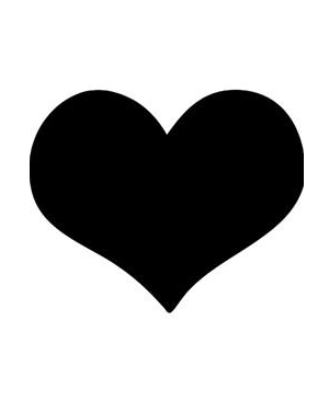 Lavagna da parete 'cuore' silhouette securit FB-HEART_74540 by Securit