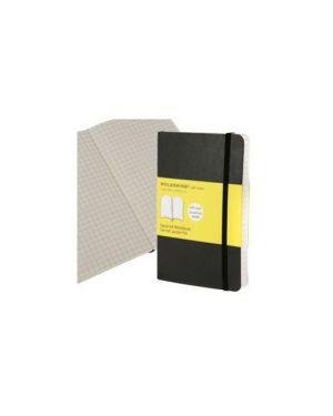 Taccuino moleskine pocket 9x14cm 192pg 5mm copertina morbida c/elastico nera QP612_73047
