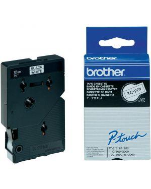 Nastro brother tc-201 12mm bianco - scritta nero TC-201 4977766050524 TC-201_BROTC201
