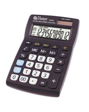Calcolatrice da tavolo 12 cifre 73030 titanium CD2696-12RP 8025133026729 CD2696-12RP_73030