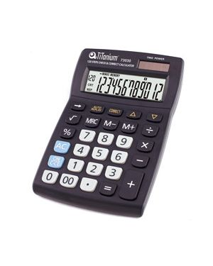 Calcolatrice da tavolo 12 cifre 73030 titanium CD2696-12RP_73030 by Titanium