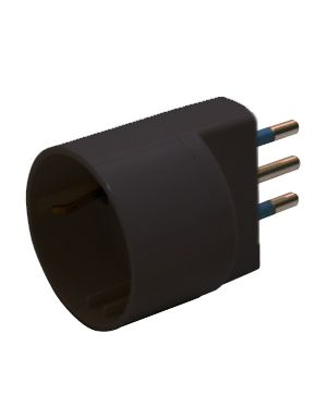 Adattatore semplice nero con spina 2p+t 10a - presa schuko 10a 492518358 8006012097887 492518358_68207