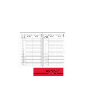 Registro protocollo lettere ricevute spedite 21x31cm 100fg bm 0100114_67687