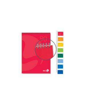 Blocco notes spiralato lato corto 210x297mm 90gr 50fg 5mm color bm Confezione da 5 pezzi 0100208_71152 by Bm