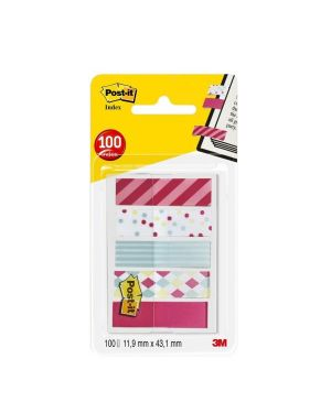 Dispenser 100 segnapagina post-it index mini 684 mm.12x43,6 candy POST-IT 5126 04054596002739 5126_500245 by Plush&company