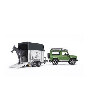 Land rover defender con rimorchio trasporto cavalli + 1 cavallo 02592_500443