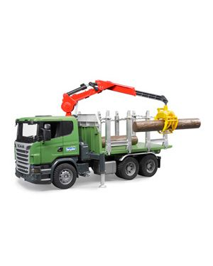 Camion scania r series trasporto 3 tronchi con gru 03524_500459
