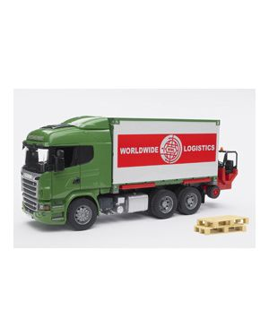 Camion scania r series portacontainer con muletto 03580_500462