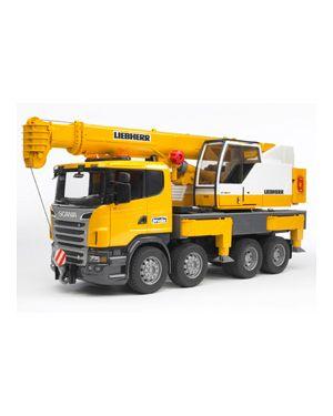 Camion scania r series con gru liebherr con luci e suono 03570_500471