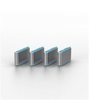 Serrature addizionali usb c grigio Lindy 40466-LND 4002888404662 40466-LND