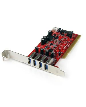 Scheda pci 4 porte usb STARTECH - COMP. CARDS AND ADAPTERS PCIUSB3S4 65030849517 PCIUSB3S4_V932237 by Startech.com