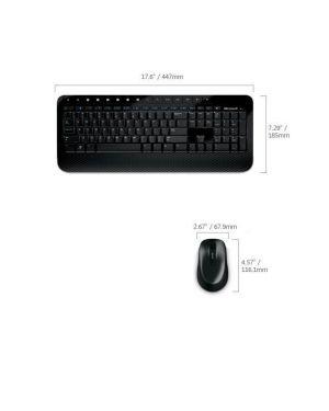 Wireless desktop 2000 Microsoft M7J-00009 885370252682 M7J-00009_8037XW6 by Microsoft - Hrd Hardware
