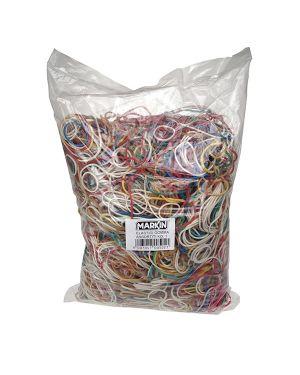 10 sacchetti da 100g di elastico gomma misure e colori assort. markin Y525ASS100 8007047005021 Y525ASS100_72086 by Esselte