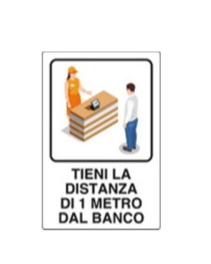 Distanza 1mt dal banco 30x20 all Mascherine 04801080ALB0300X0200 8024814502453 04801080ALB0300X0200-1