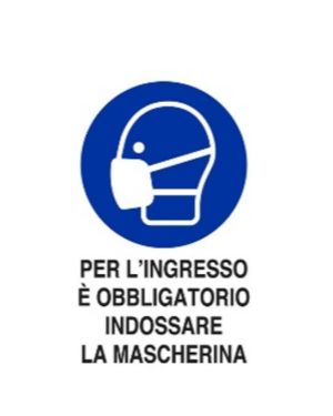 Per lingresso obbligatoria masch Mascherine M0160030ADB0300X0200 8024814501753 M0160030ADB0300X0200-1