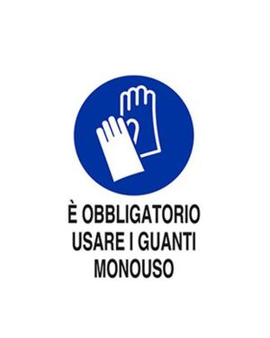 E obbligatorio usare guanti mono Mascherine M0093920ADB0300X0200 8024814501777 M0093920ADB0300X0200