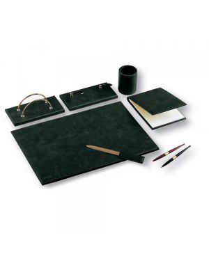 Set scrivania william nero sintetico 5 pezzi niji 60451 8002787604510 60451_74634 by Niji Italiana
