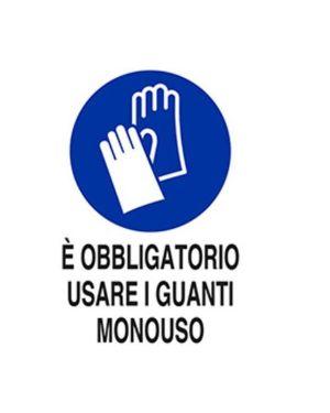 E obbligatorio usare guanti mono Mascherine M0093920ALB0300X0200 8024814501746 M0093920ALB0300X0200-1