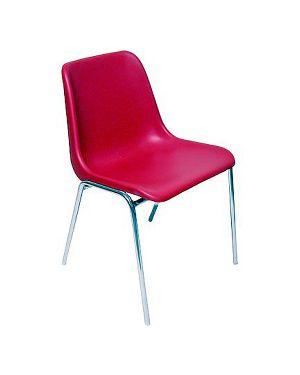 Sedia attesa esse rosso senza braccioli ESC/R 58068 A ESC/R_58068 by Unisit