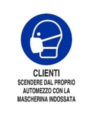 Clienti scendere automezzo c - mas Mascherine M0160050ALB0300X0200 8024814501968 M0160050ALB0300X0200-1