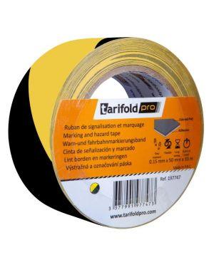 Nastro sicurezza giallo nero 50x33 Tarifold B197747 3377991977473 B197747