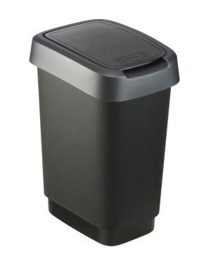 Cestinoppl apert scelta nero - grigio Rotho F600019 7610859135391 F600019_74032 by Rotho