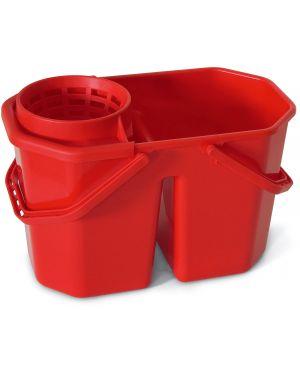 Secchio doppia vasca 15lt con strizzatore in factory 0469H 8000957046986 0469H_74100 by In Factory