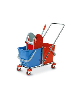 Carrello duo doppia vasca 25+25lt con pressa in factory 0470B 8000957047020 0470B_74115 by In Factory