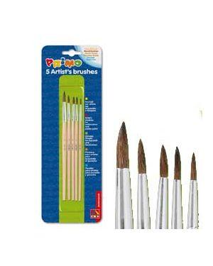 Blister 5 pennelli tondi assortiti primo 1240BPT_73653 by Primo - Morocolor