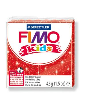 Pasta polimerica fimo kids 42gr rosso glitter 212 8030-212  8030-212_73703 by Esselte