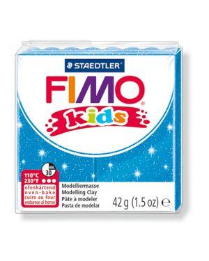 Pasta polimerica fimo kids 42gr blu glitter 312 8030-312 4007817804964 8030-312_73705