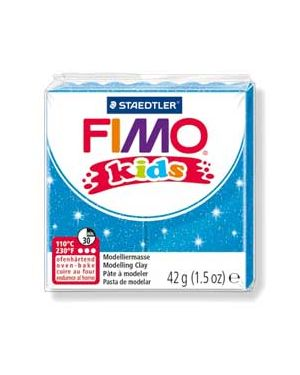 Pasta polimerica fimo kids 42gr blu glitter 312 8030-312_73705 by Fimo