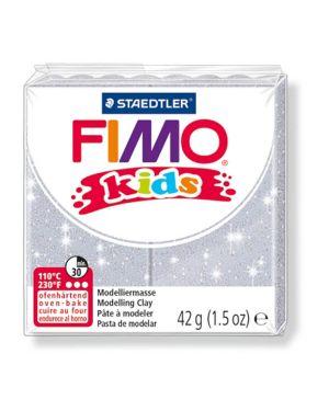 Pasta polimerica fimo kids 42gr argento glitter 812 8030-812  8030-812_73706 by Esselte