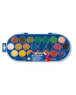 Pastiglie acquerello in 22 colori ø 30mm primo 114A22SG 8006919001147 114A22SG_35243