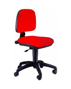 Sedia operativa a41b rosso senza braccioli A41B/ER 8050043742315 A41B/ER_50388 by Esselte