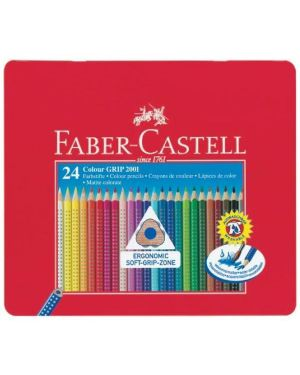 Astuccio metallo 24 pastelli colorati acquerellabili color grip faber castell 112423 4005401124238 112423_73609