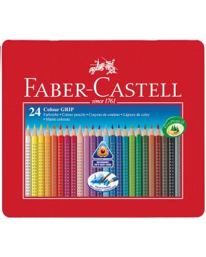 Astuccio metallo 24 pastelli colorati acquerellabili color grip faber castell 112423 4005401124238 112423_73609 by Faber-castell