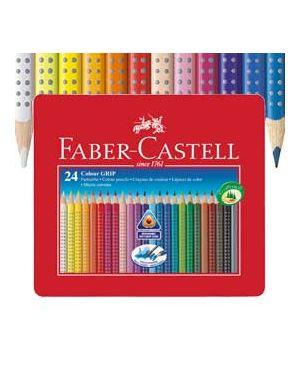 Astuccio metallo 24 pastelli colorati acquerellabili color grip faber castell 112423_73609