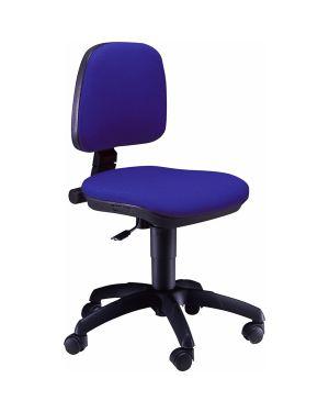 Sedia operativa a41b blu senza braccioli A41B/EB 8050043742155 A41B/EB_74715 by Unisit