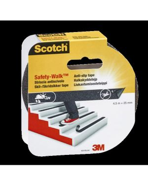 Rotolo adesivo antiscivolo 25mmx4,5mt nero scotch safety-walk 99248  99248_74482