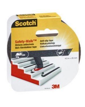 Rotolo adesivo antiscivolo 25mmx4,5mt nero scotch safety walk 99248_74482