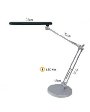 Lampada led 6w nero ledtrek alb LEDTREK-N_74467