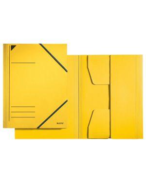 Cartella a 3 lembi Leitz con chiusura a elastico Colore Giallo ES_39810015 by Leitz