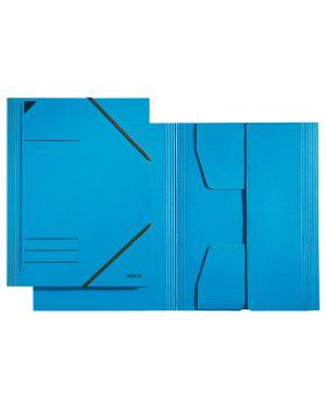 Cartella a 3 lembi Leitz con chiusura a elastico Colore Blu ES_39810035