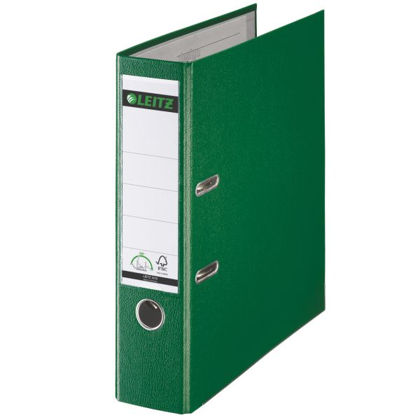 Registratore con meccanismo a leva 180° Leitz in plastica Colore Verde