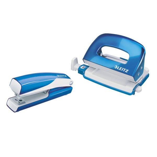 Set mini cucitrice e perforatore in metallo Leitz WOW NeXXt Series Colore Blu metallizzato ES_55612036 by Leitz