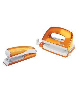 Set mini cucitrice e perforatore in metallo Leitz WOW NeXXt Series Colore Arancione metallizzato ES_55612044