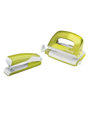 Set mini cucitrice e perforatore in metallo Leitz WOW NeXXt Series Colore Verde metallizzato ES_55612064